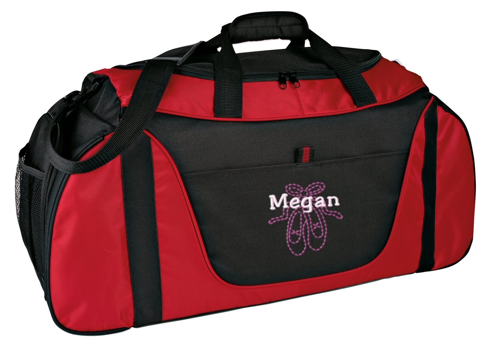 personalized ballet shoes medium two-tone gym duffel bag with free personalization & free shipping bg1050