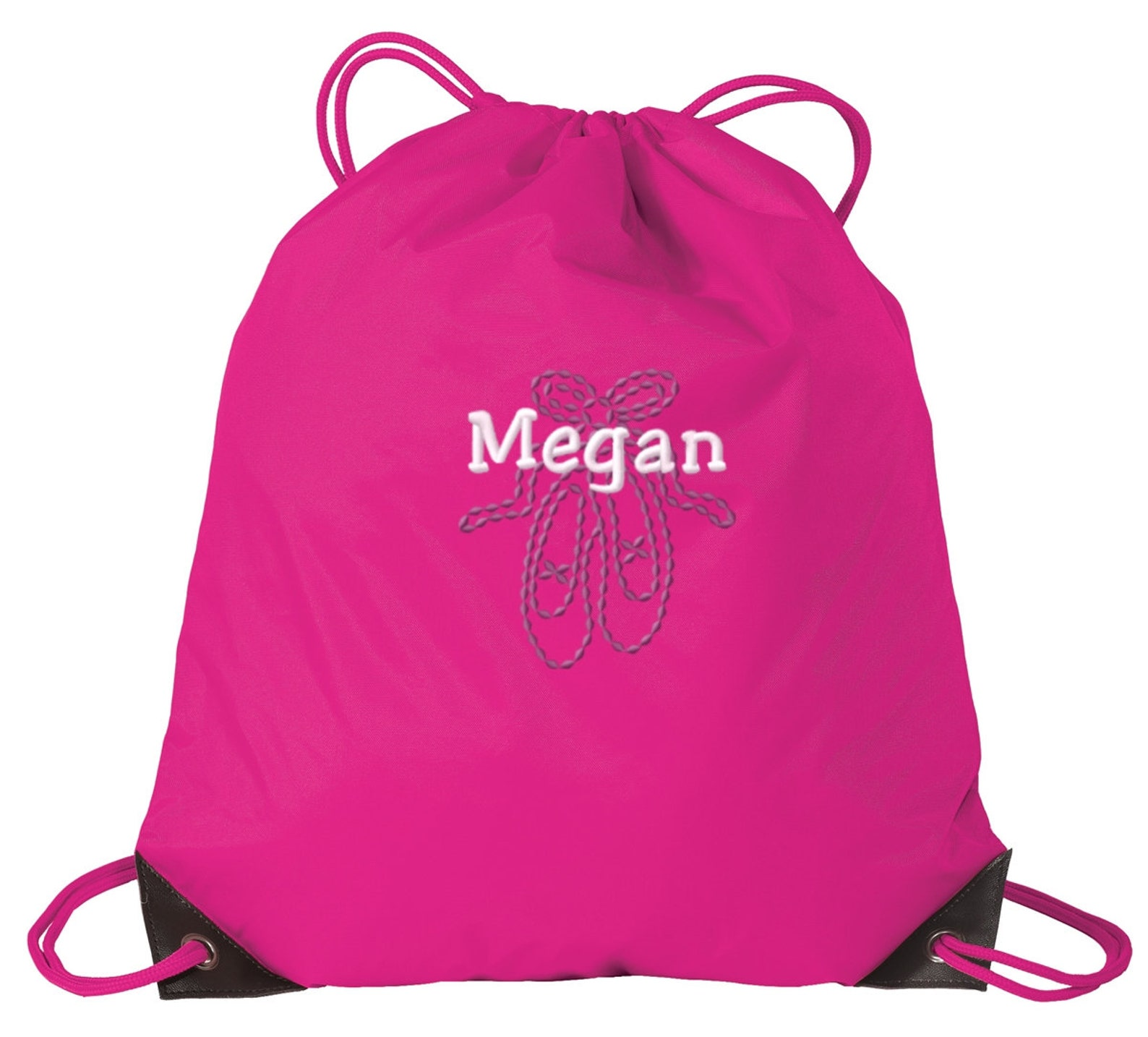 personalized ballet shoes drawstring sack cinch backpack with free personalization & free shipping bg85