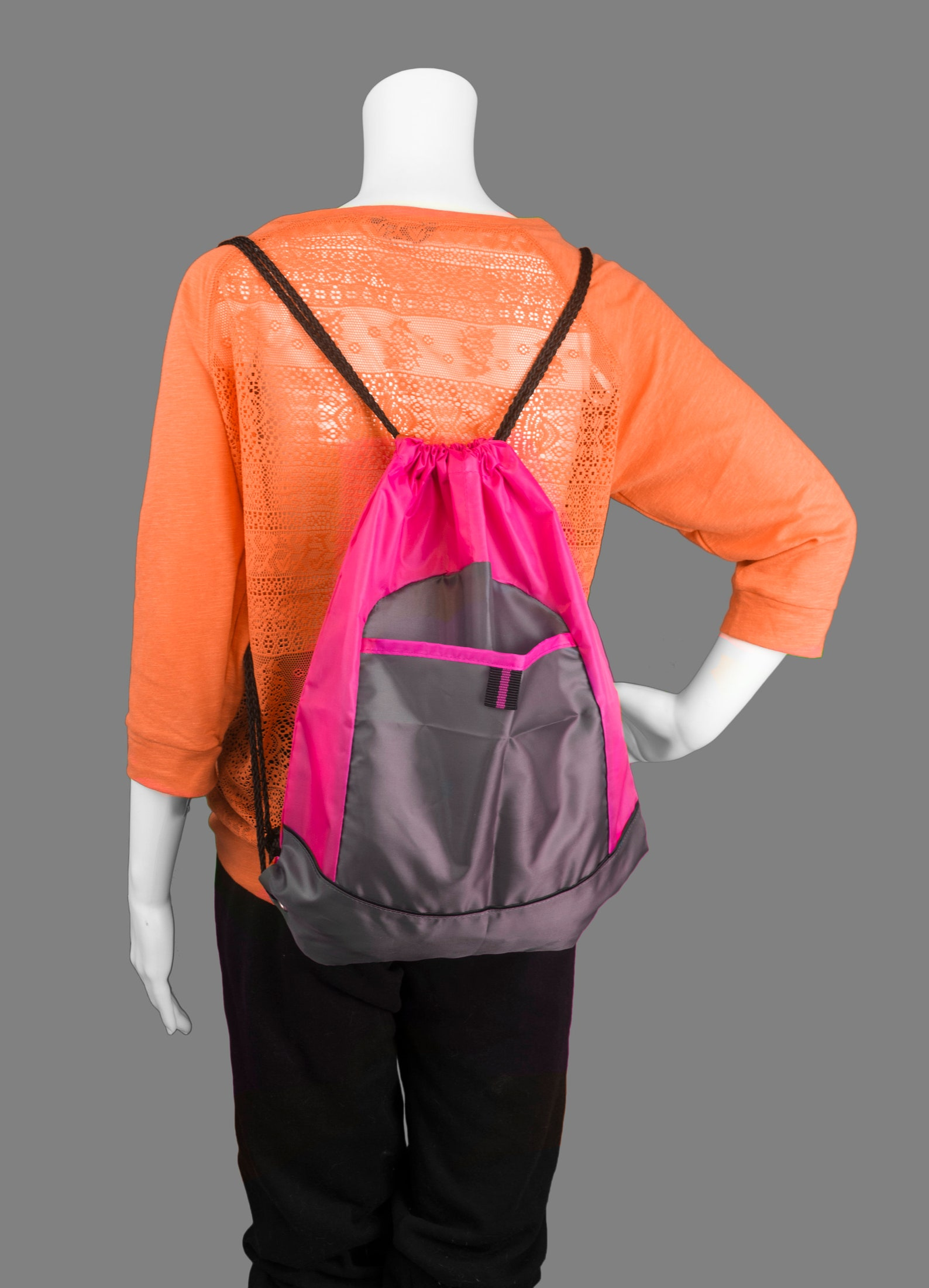 personalized ballet shoes pocket drawstring sackpack bag with free personalization & free shipping bg611