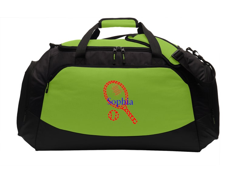 35bd3a7b06 Personalized Tennis Gym Duffel Bag with FREE Personalization