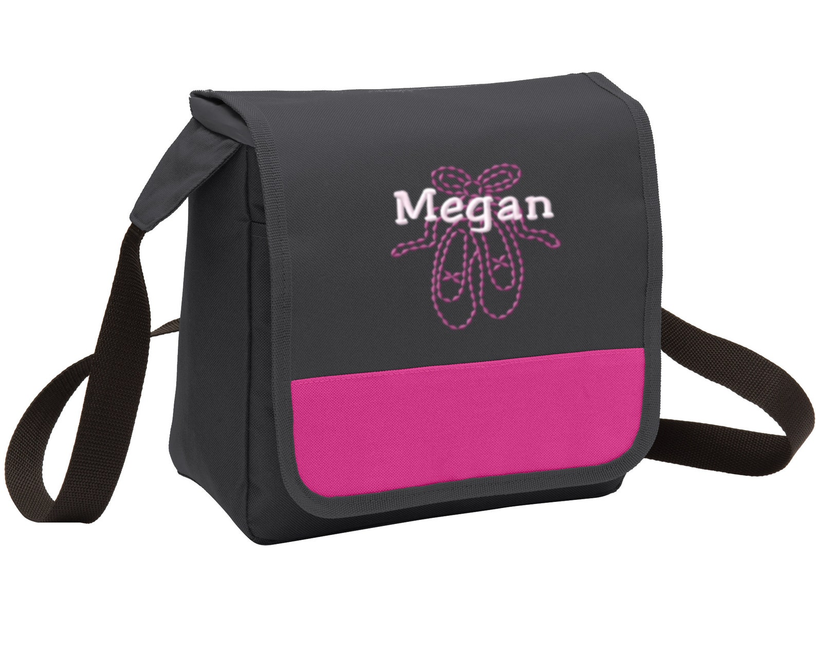 personalized ballet shoes lunch cooler messenger bag with free personalization & free shipping bg753