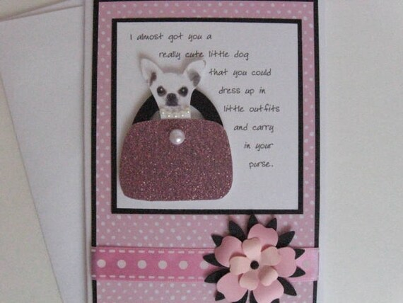 Funny Chihuahua Birthday Card For Her Handmade