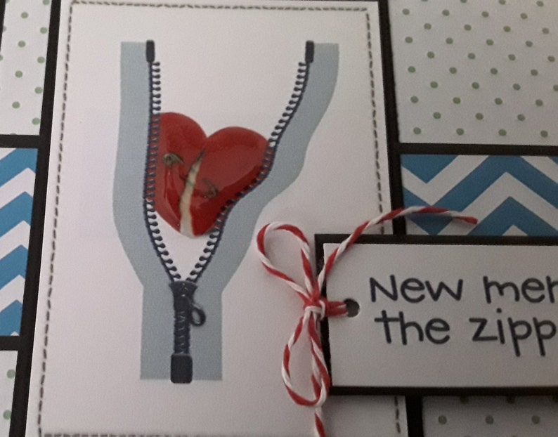 Family or friend having open heart surgery? This funny get well card will  give them a laugh  The zipper Club, not a club they wanted to join