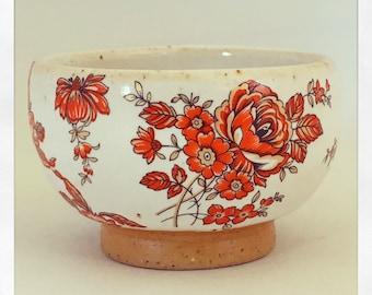 Red Bohemian Fine Tea Cup