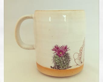 Boho Double Cactus- Limited Editon Color Mug