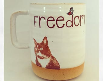 Freedom- Monkey the Cat 2018 Mug