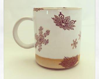 Let it Snow- snowflake mug