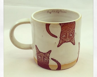Bully's Cup- black cat coffe cup