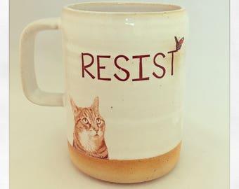 Resist- Push Push the Cat 2018 Mug
