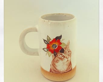 Push Push's Darling Tabby Cat Espresso cup
