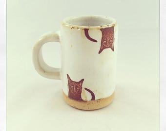 Bully Dots Espresso Cup- black cat cool