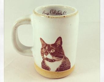 Monkey's Tuxedo Cat espresso cup