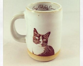 Baby Jesus's Tuxedo Cat espresso cup