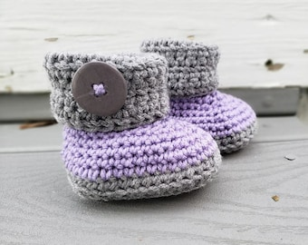 Crochet Baby Boots, 6 to 9 months