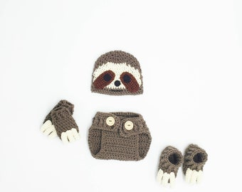 0e04cbb17 Baby Sloth Outfit Photo Prop Newborn Photography