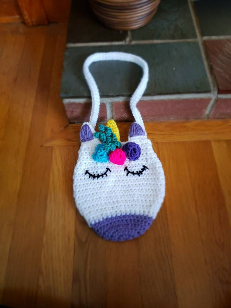 Crochet Unicorn Purse for Kids