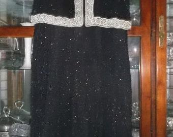 Exquisite black vintage Camille Marie evening gown.