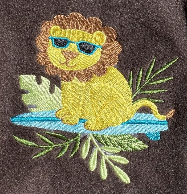 Lined Jacket Hood Brown Lion Jacket Personalized Jacket Child Bahde Toddler Coat Toddler Jacket Girl Boy 3T Safari Jacket 2 Year Old