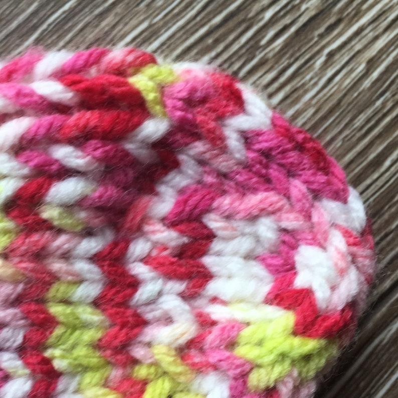 Knit Children/'s Socks  Toddler Socks size 3-4  Kid/'s Winter Socks  Pink /& White Socks for Girl  Seamless Acrylic Cozy Bed Socks  Bahde