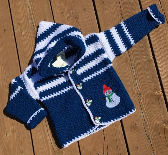 Kinder Pullover Größe 4 T Häkeln Weihnachten Schneemann Für Etsy