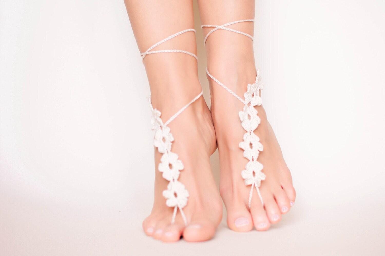 Crochet barefoot sandals Boho barefoot sandal wedding Crochet  662b9e3ed7a1