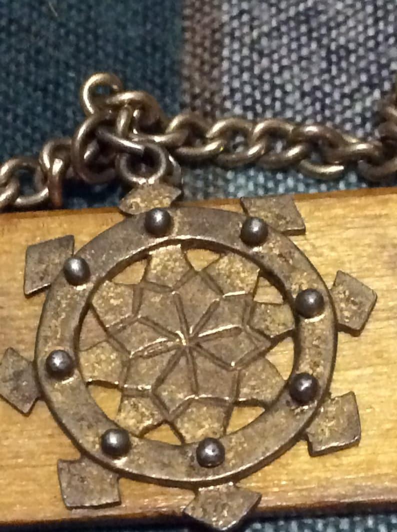 Vintage Egyptian themed charm bracelet