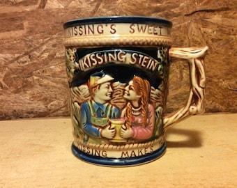 1960's Ceramic Double handled Kissing  Stien