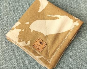 Gold Paisley Print and Microfiber EDC Hank