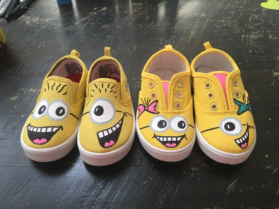 sports shoes 15cca e4590 Custom minion shoes   Etsy