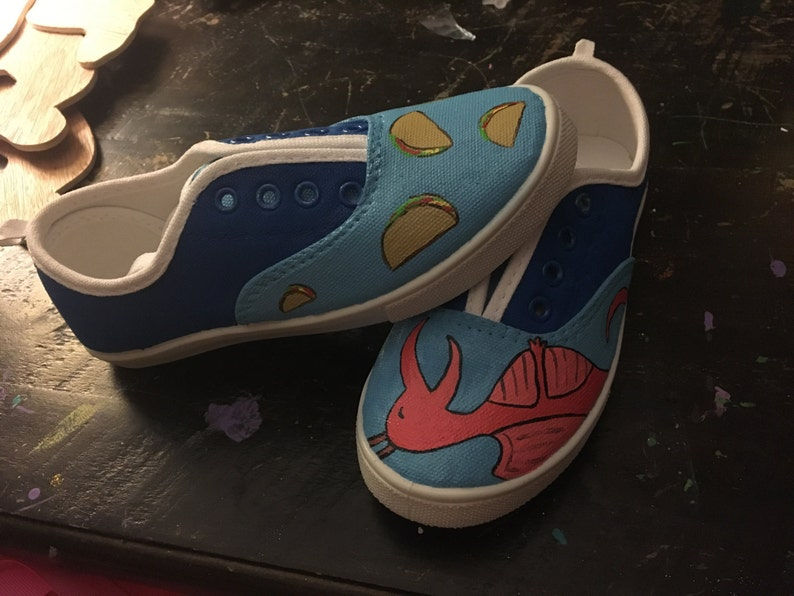 Dragons love tacos custom shoes adults image 0