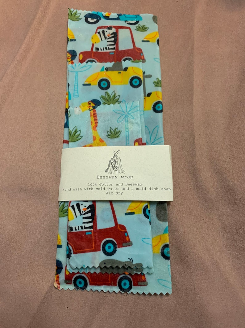 Beeswax wraps whimsical animals