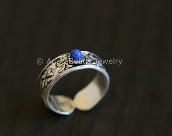 Toe Ring, 925 Toe Ring, Lapis Toe Ring,, Silver Toe ring, 925 Silver Toe ring; Knuckle Ring