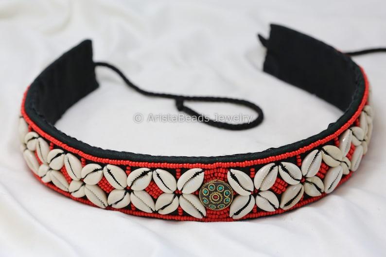 Beaded Belt Boho Belt Tribal Bohemian Multicolor Statement Belt Bohochic Bold Nepal Jewelry