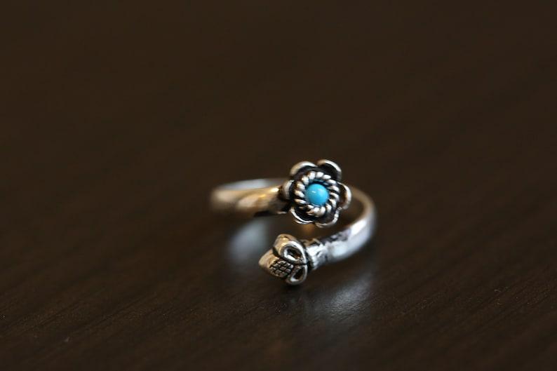 Toe Ring 925 Toe Ring Turquoise Toe Ring Silver Toe ring image 0