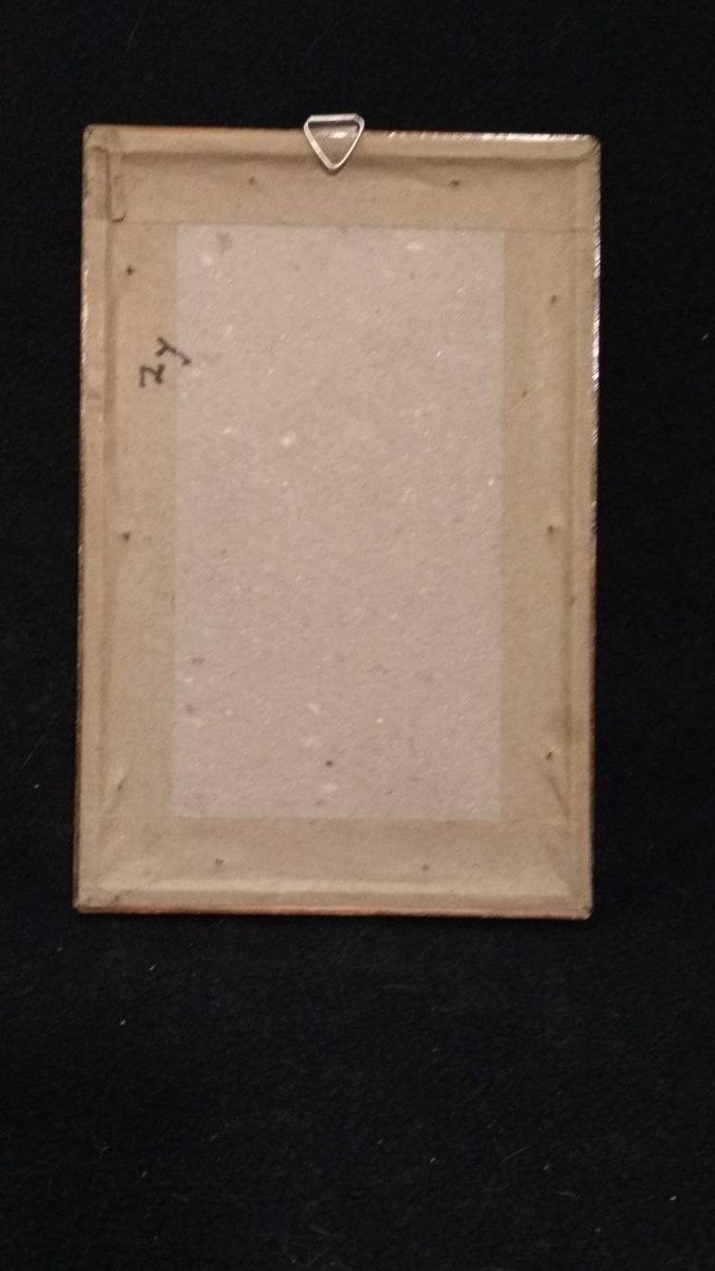 Vintage picture cardposter card framed