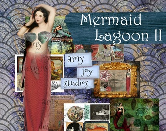 Mermaid Lagoon II  Junk Journal Kit  Mermaid Journal  Printable Journal  Ocean  Digital Journal Kit  Mini Album  ephemera  vintage journal