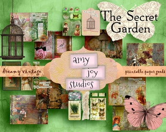 Secret Garden  Digital Journal Kit   Junk Journal Kit  Vintage  Victorian  garden lovers  spring  Ephemera Pack   journal pages