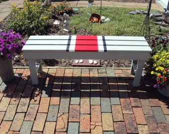 Outdoor Bench, Ohio State, Ohio State Buckeyes, Wood Benches, Outdoor  Furniture, Porch Bench, Patio Bench, Gift Idea, Christmas Gift