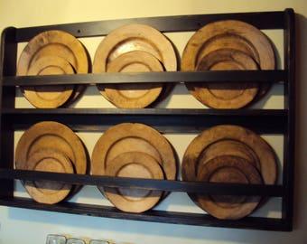 plate rack etsy. Black Bedroom Furniture Sets. Home Design Ideas