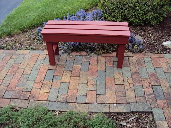 Awesome Outdoor Bench Wood Bench Benches Wood Benches Outdoor Furniture Porch Bench Patio Bench Custom Sizes Availible Gift Idea Ocoug Best Dining Table And Chair Ideas Images Ocougorg