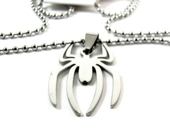 Silver Spider Necklace inspired by The Amazing Spiderman