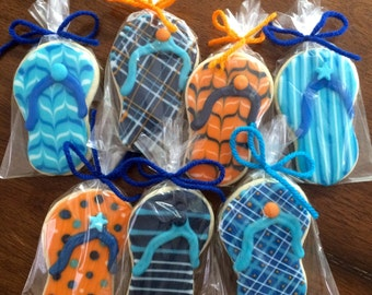532f8c62784966 Detailed Flip Flop Cookies - perfect party cookies!