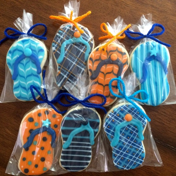 99dae64b51437 Detailed Flip Flop Cookies perfect party cookies