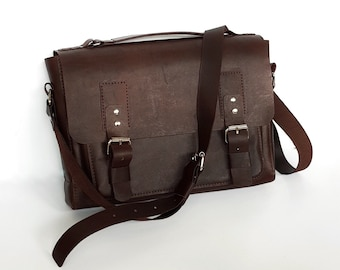Messenger Leather Bag | Vegetable Tanned Leather Bag | Vachetta Leather Bag | Personalized Gift | Brown Leather Bag