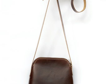 Small Crossbody Sling Bag | Mini Leather Sling Bag | Leather Shoulder Bag | Women Small Leather Bag | Vegtan Leather Small Bag