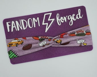 Adult knotted headband   Friends turban headband   Central Perk Running headband   yoga headband   twist knot headband
