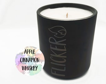 Apple Pie   Cinnamon   Whiskey 14oz candle   Coconut apricot wax candle   Wood wick candle  
