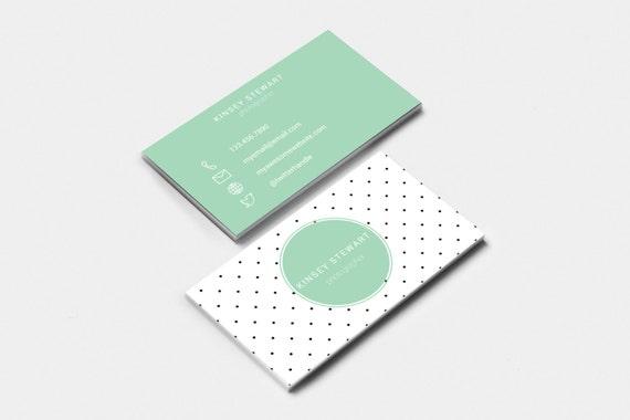 Editable & Printable Business Card Template DOTS Feminine