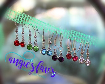 Single Jewel Dangle Earrings