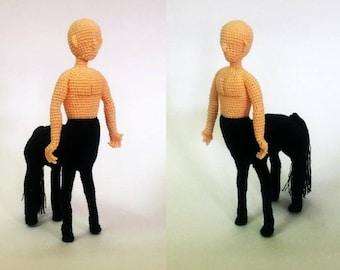 Man centaur Pattern, half human half horse, doll amigurumi, doll crochet, PDF INSTANT DOWNLOAD